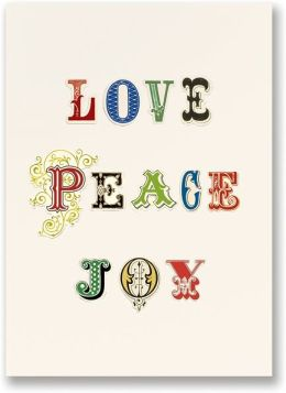 Love Peace Joy Christmas Boxed Card