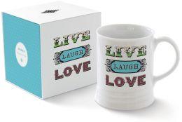 Live Laugh Porcelain Georgia Mug