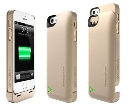 Boostcase Hybrid Snap-On Case & Detachable Extended Battery for iPhone 5 - Champagne Gold