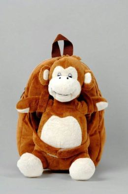 Tag Along Teddy Small Plush Backpack - Monkey