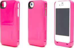 Boostcase Hybrid Snap-On Case & Detachable Extended Battery for iPhone 4/4S - Magenta