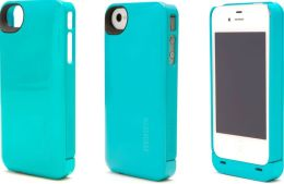 Boostcase Hybrid Snap-On Case & Detachable Extended Battery for iPhone 4/4S - Teal