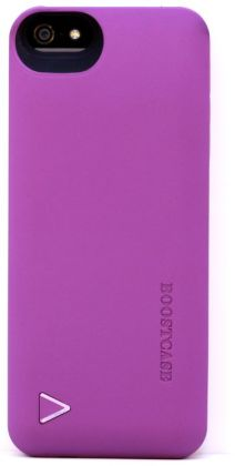 Boostcase Hybrid Snap-On Case & Detachable Extended Battery for iPhone 5 - Purple