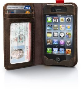 BookBook Case for iPhone 4/4S - Vintage Brown