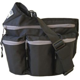 Diaper Dude Diaper Bag - Black with Grey Zippers