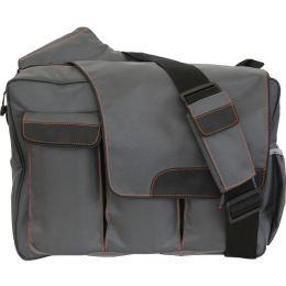 Diaper Dude Messenger Diaper Bag with Flap - Grey