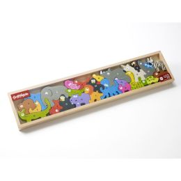 Animal Alphabet Parade Wooden Puzzle
