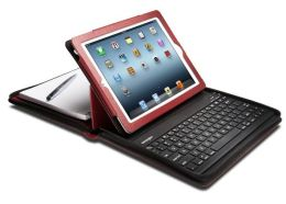 Kensington Keyfolio Bluetooth Keyboard Cover for iPad 2 and 3 in Red