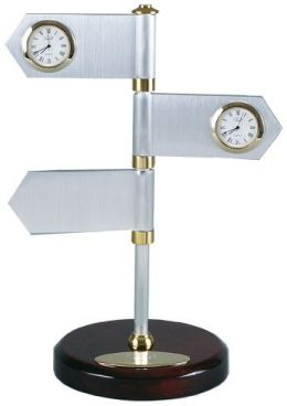 Chass 68312 2-Clock And 1 Blank Signs Clock