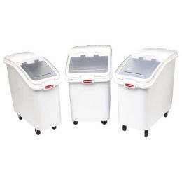 Rubbermaid Commercial Products RCP 3602-88 WHI Ingredient Bin W/ Slntd Sliding Lid3 .5 Cu Ft Whi