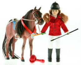 Paradise Horses POZ-ABLES Doll and Horse - English Set