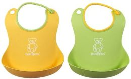 BABYBJORN Soft Bib Green/Yellow 2 Pk