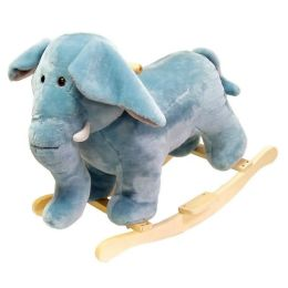 HAPPY TRAILST Elephant Plush Rocking Animal