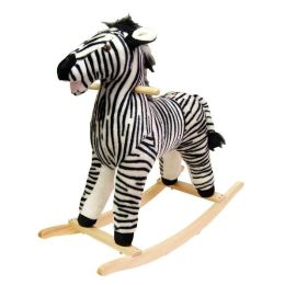 HAPPY TRAILST Zebra Plush Rocking Animal