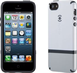 Speck CandyShell Flip Case for iPhone 5 in White Grey and Charcoal