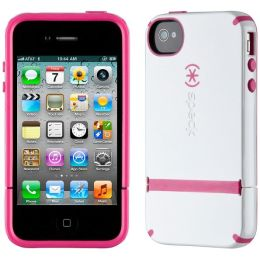 Speck CandyShell Flip Case for iPhone 4/4S in White and Raspberry