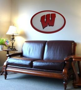 Adventure Furniture C0504-Wisconsin Wisconsin Logo Wall Art
