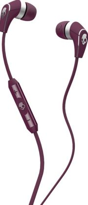 Skullcandy 50/50 Earbuds with Mic - Plum/Chrome