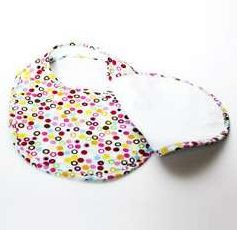 Bebe Au Lait Double Bib In Hot Dots