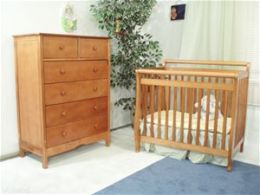 AFG Athena Mini Amy Crib - Pecan - 8018P