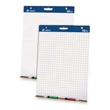 Adams Business Forms ABFEP927342 Easel Pads- w-Carry Handle- 1in. Grid- 50 SH-PD- 2 PD-CT- White