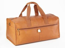 Clava A21TAN Large Leather Square Duffel - Tan