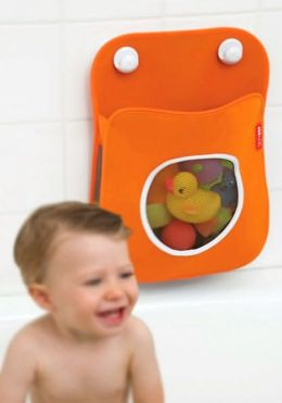 Tubby Bath Toy Organizer - Orange