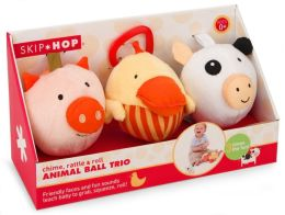 Funky Farmyard Animal Ball Trio