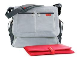 Skip Hop Via Messenger Diaper Bag - Platinum