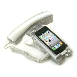 iClooly Phone Handset and Sync Stand for iPhone 4, 3GS, 3G, and Other Wireless Phones with 3.5 mm Headphone Jack
