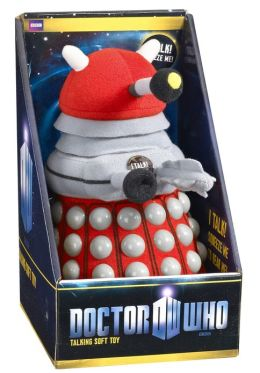 Doctor Who: Talking Plush: Med (appx 9''): Dalek (Red)