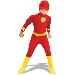 DC Comics The Flash Muscle Chest Deluxe Toddler/Child Costume: Size Large (10-12)