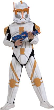 Star Wars Animated Deluxe Clone Trooper Commander Cody Child Costume: Size Medium