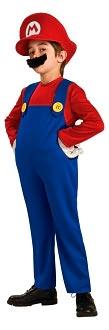Super Mario Bros. - Mario Deluxe Child Costume: Size Large (12/14)