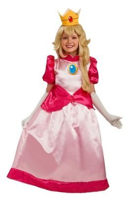 Super Mario Deluxe Princess Peach Child Costume: Size Medium (8-10)