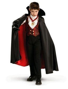 Transylvanian Vampire Child Costume: Size Large (12-14)