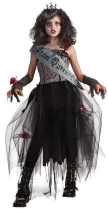 Goth Prom Queen Child Costume: Large