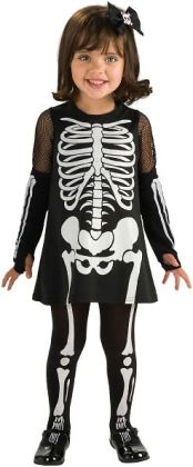 Skeleton Costume - Girl (Toddler)
