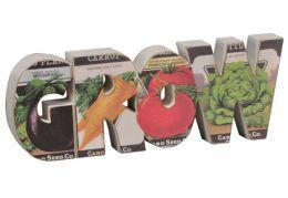 Grow Chunky Word Garden Motif Sign(3x8x1)