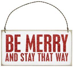 Be Merry Plaque Hanging Door Sign 6