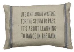 Dance in the Rain Pillow 15'' x 10''