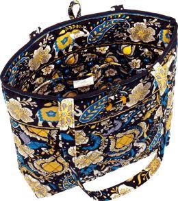 Vera Bradley Ellie Blue Fabric Tote 11.75