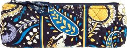 Vera Bradley Ellie Blue Pencil and Brush Case (9.25 x 3.25)