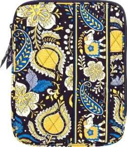 Vera Bradley Ellie Blue Tablet Sleeve (8x 10.25 x .63)