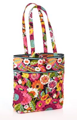 Vera Bradley VaVa Bloom Fabric Tote 11.75