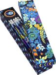 Product Image. Title: Vera Bradley Midnight Blues Pencil Box - 10 Pencils and Sharpener