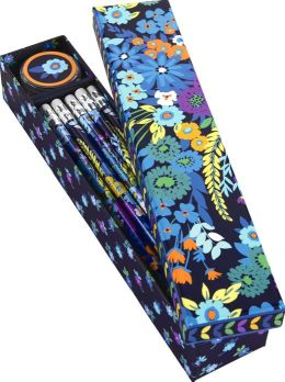 Vera Bradley Midnight Blues Pencil Box - 10 Pencils and Sharpener