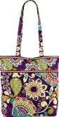 "Product Image. Title: Vera Bradley Plum Crazy Fabric Tote 11.75"" x 13.5"" x 4"""