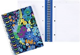Vera Bradley Midnight Blues Spiral Notebook ( 6