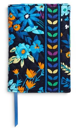 Vera Bradley Midnight Blues Fabric Paperback Bookcover 5.5'' x 7.75''